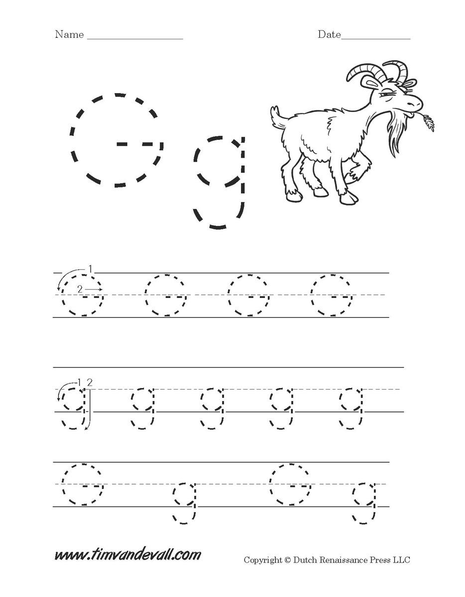 Letter G Worksheets Preschool Alphabet Printables