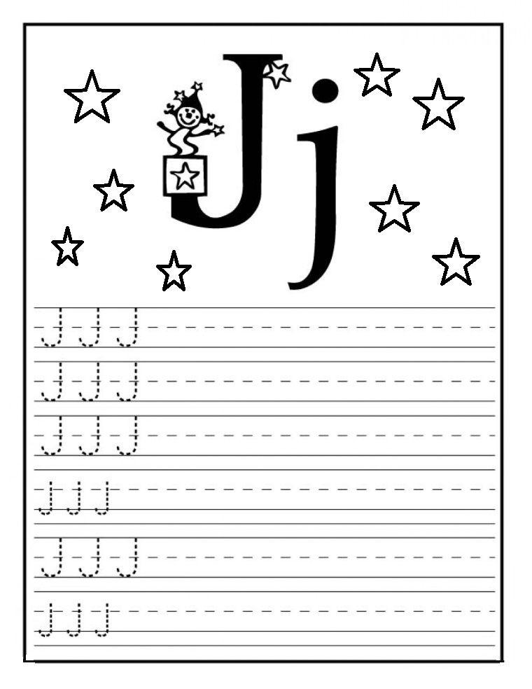 Letter J Worksheet For Preschool Tracing Worksheets
