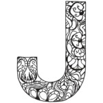 Letter J Zentangle Coloring Page Free Printable Coloring