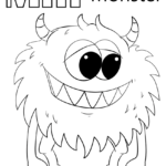 Letter M Is For Monster Coloring Page Free Printable