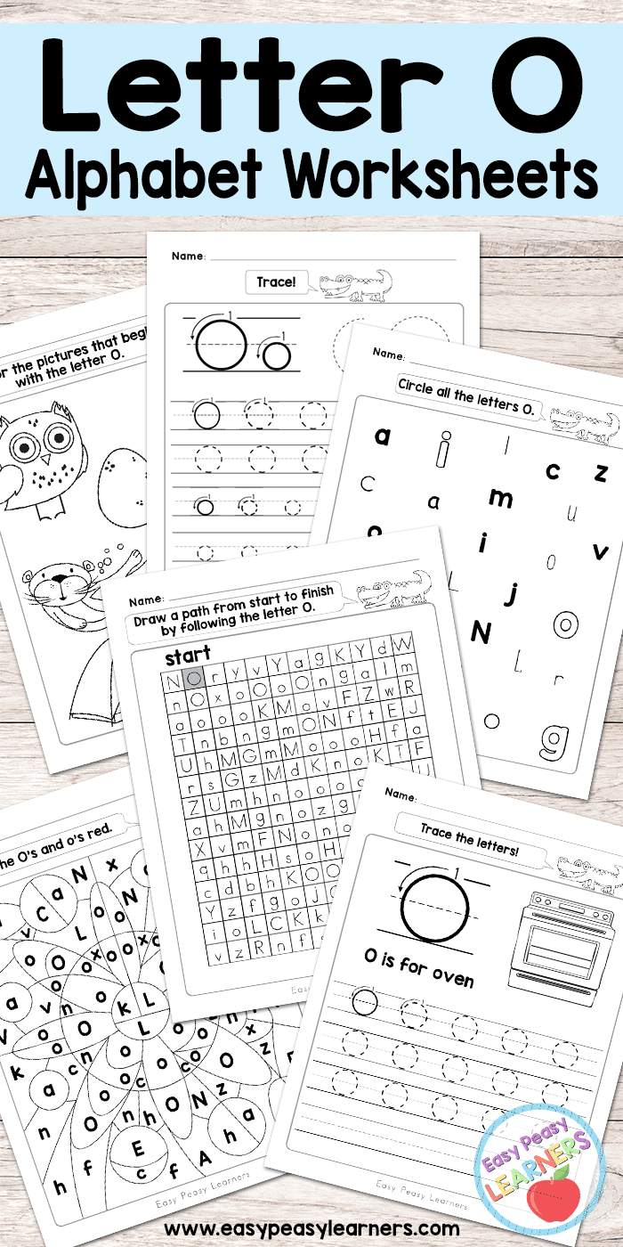 Letter O Worksheets Alphabet Series Easy Peasy Learners