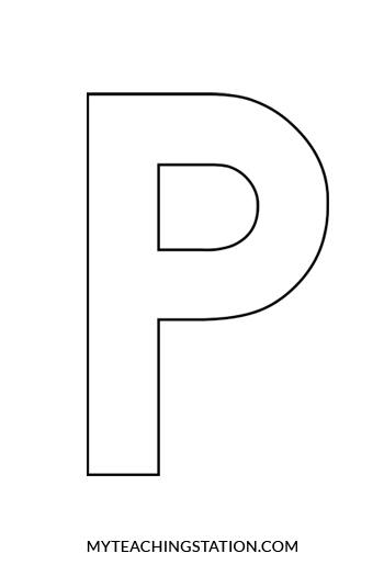 Letter P Craft Penguin MyTeachingStation