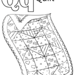 Letter Q Is For Quilt Coloring Page From Letter Q Category