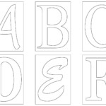 Letter Template Alphabet Templates Free Printable