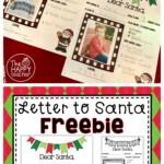 Letter To Santa FREE Printable TheHappyTeacher