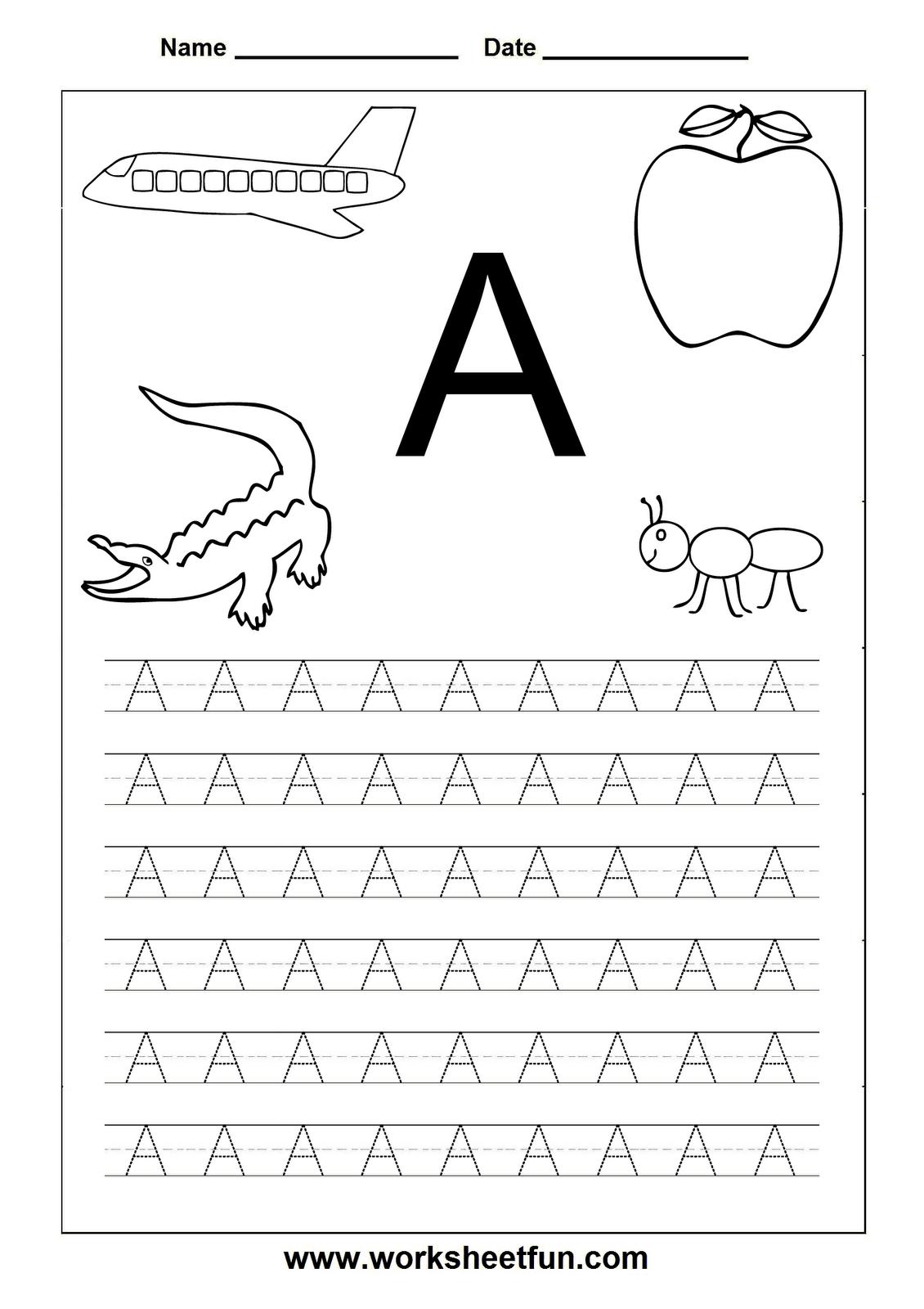 Letter Tracing Alphabet Worksheets Free Alphabet