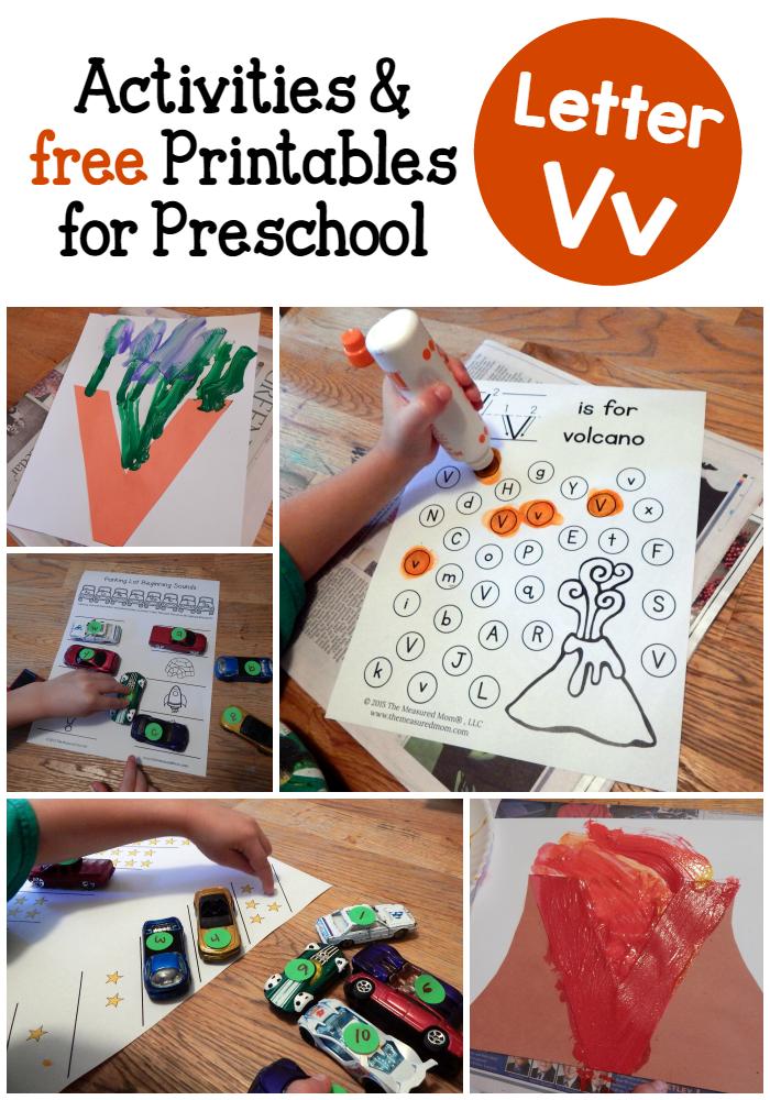 Letter V Activities For Preschool The Measured Mom