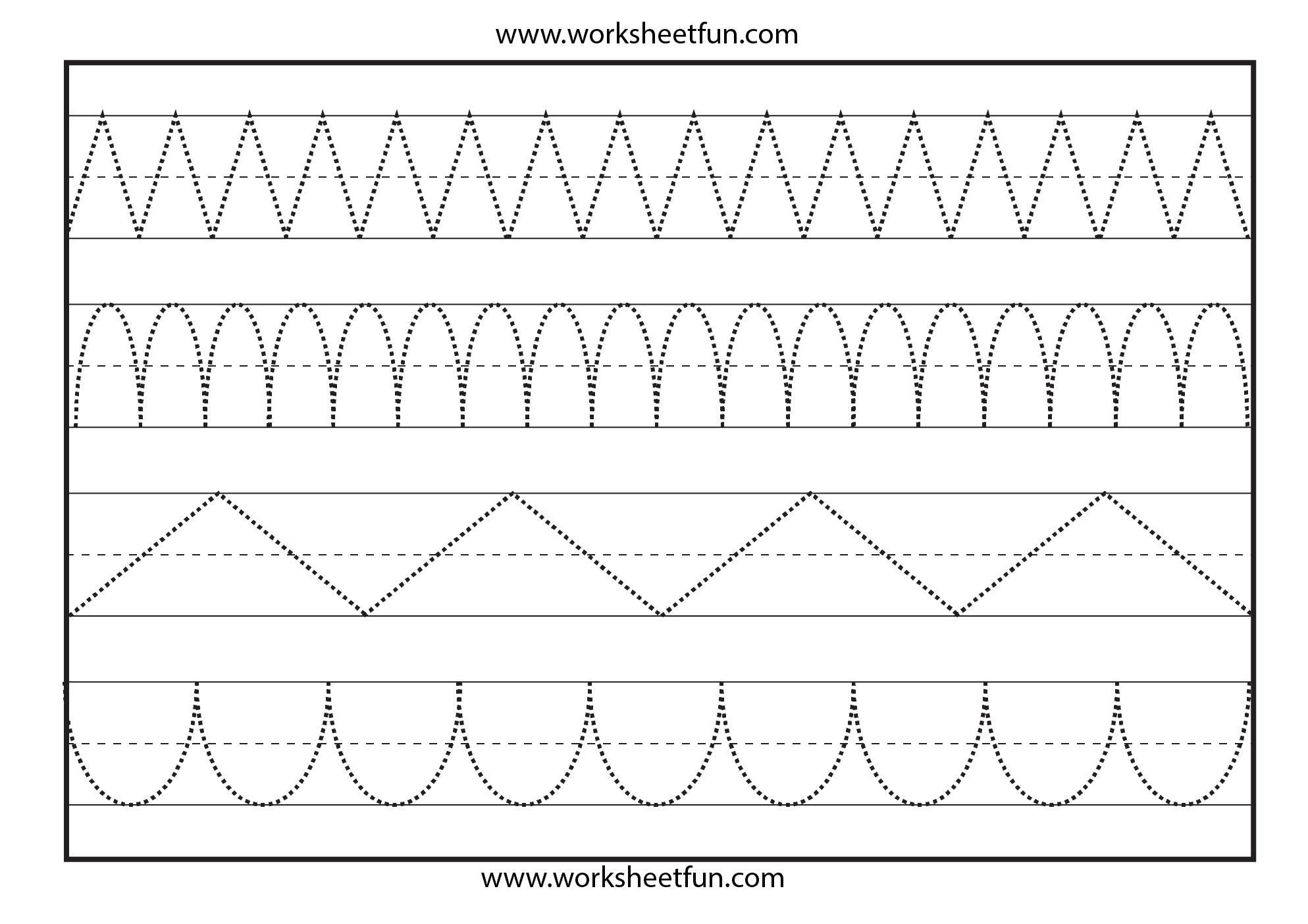 Line Tracing 1 Worksheet Line Tracing Worksheets