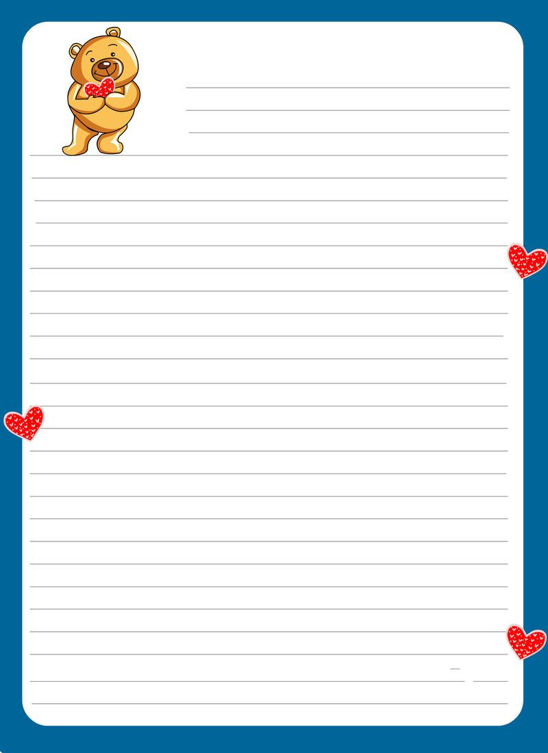 Lined Paper For Kids Cute Free Printable Stationery