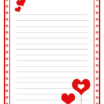 Love Letter Paper Template Coloring Page
