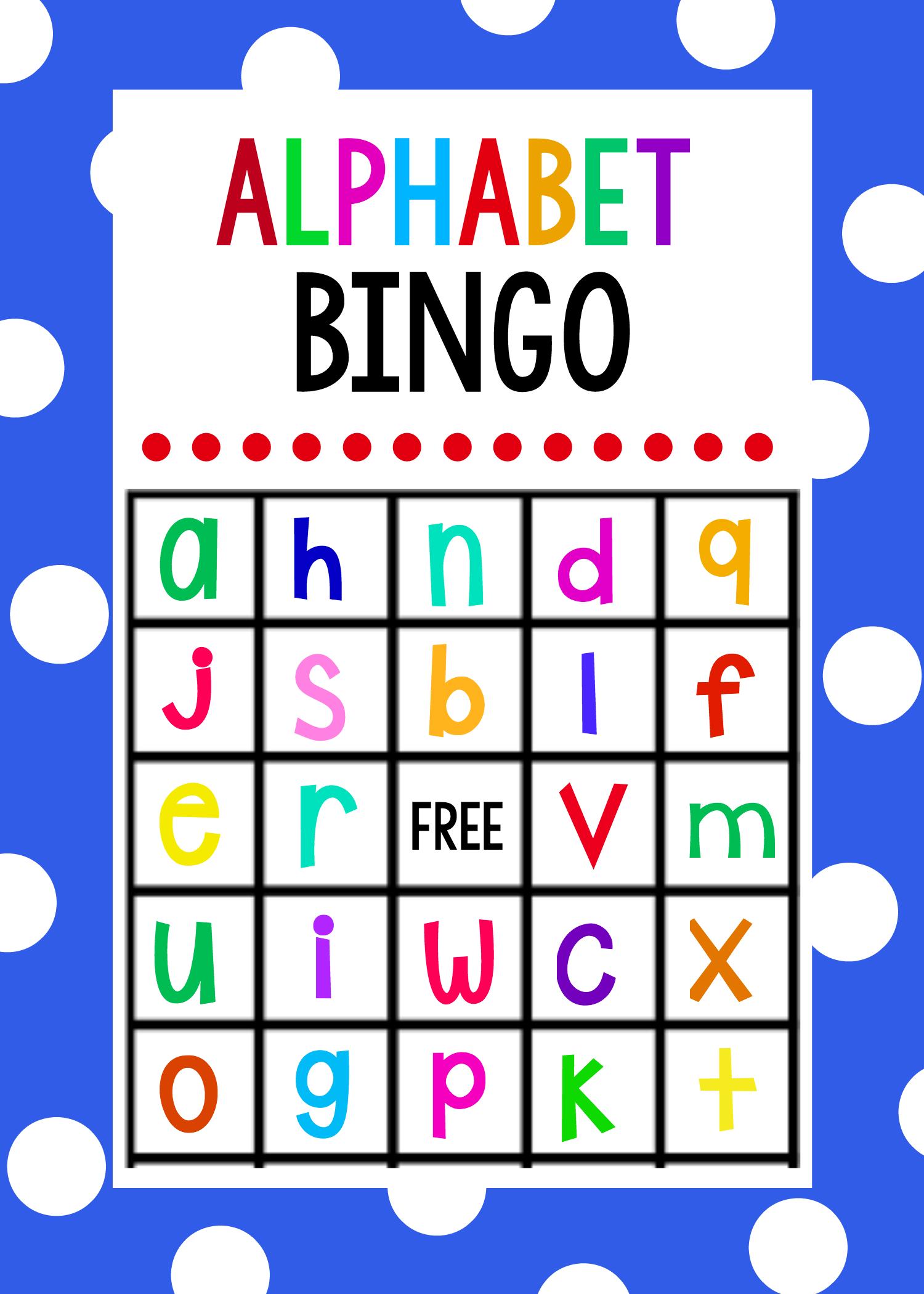 Lowercase Alphabet Bingo Game Alphabet Games For