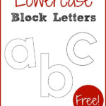 Lowercase Block Letters The Measured Mom Letter