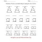 Lowercase Letter A Tracing 791X1024 Alphabet Tracing