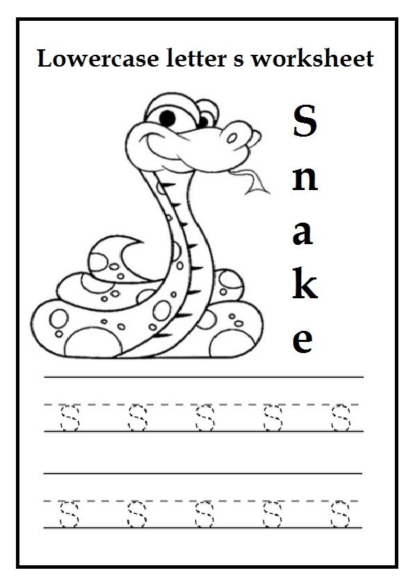Lowercase Letter S Worksheets Free Printable Preschool