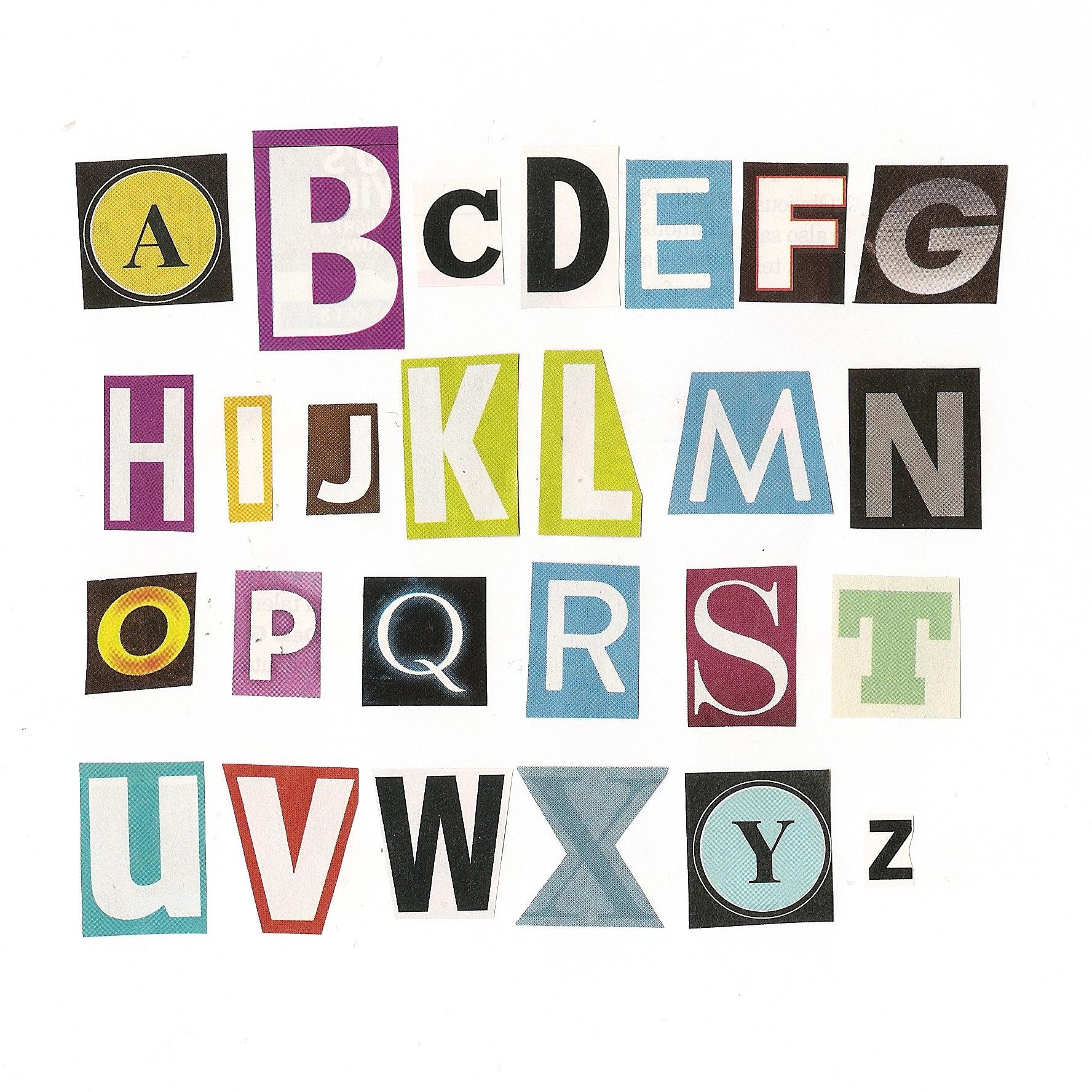 Magazine Letters Cut Out Quotes QuotesGram