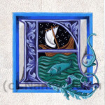 Medieval Illuminated Letter F Alphabet Letter F Painted