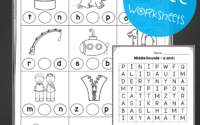 Middle Sounds Worksheets Playdough To Plato