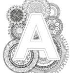 Mindfulness Coloring Page Alphabet Mandala Coloring