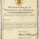 My Very Own Hogwarts Acceptance Letter As A Side Note I