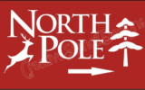 North Pole Sign Stencil North Pole Reindeer Christmas
