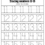Number 1 20 Tracing Worksheets FREE Printable PDF