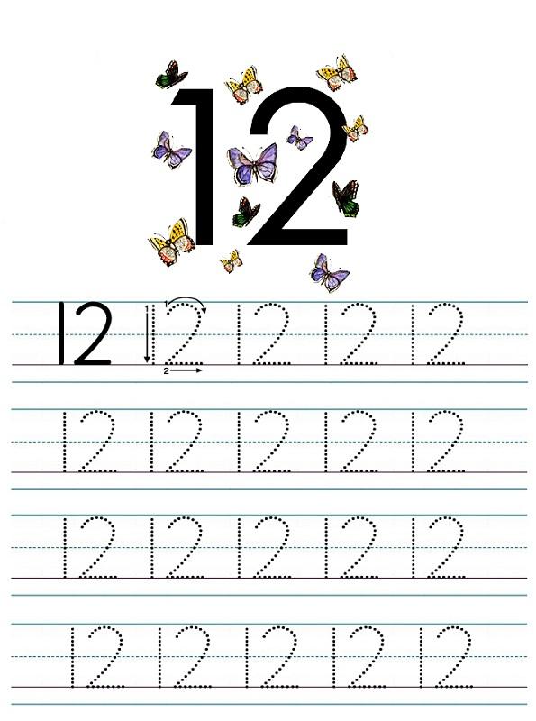 Number 12 Worksheets To Print Activity Shelter