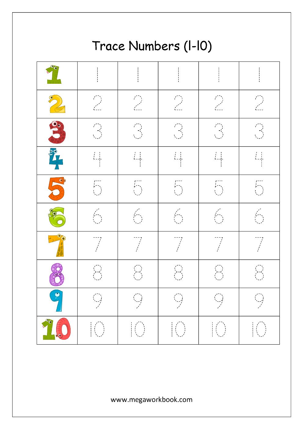Number Formation Worksheets 1 10 NumbersWorksheet