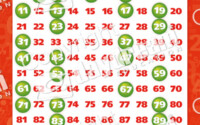 Number Set Of 12 Posters