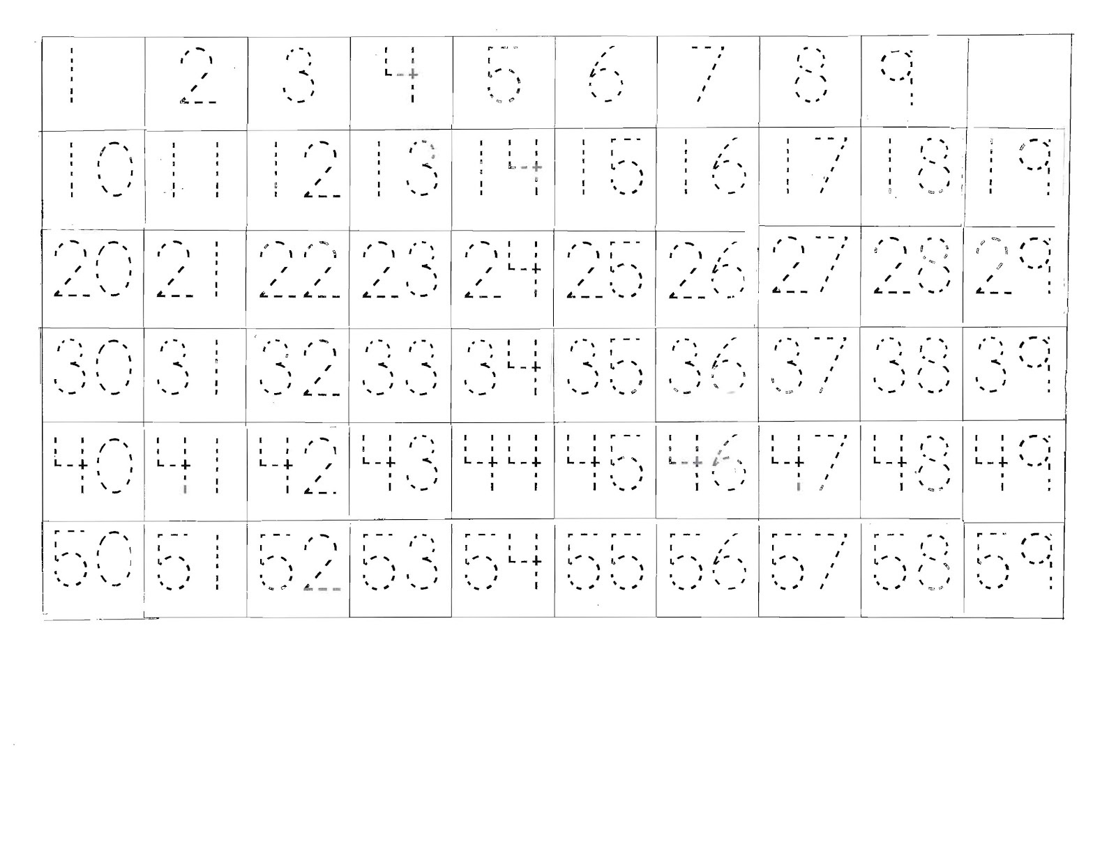 Number Sheet 1 100 To Print Activity Shelter