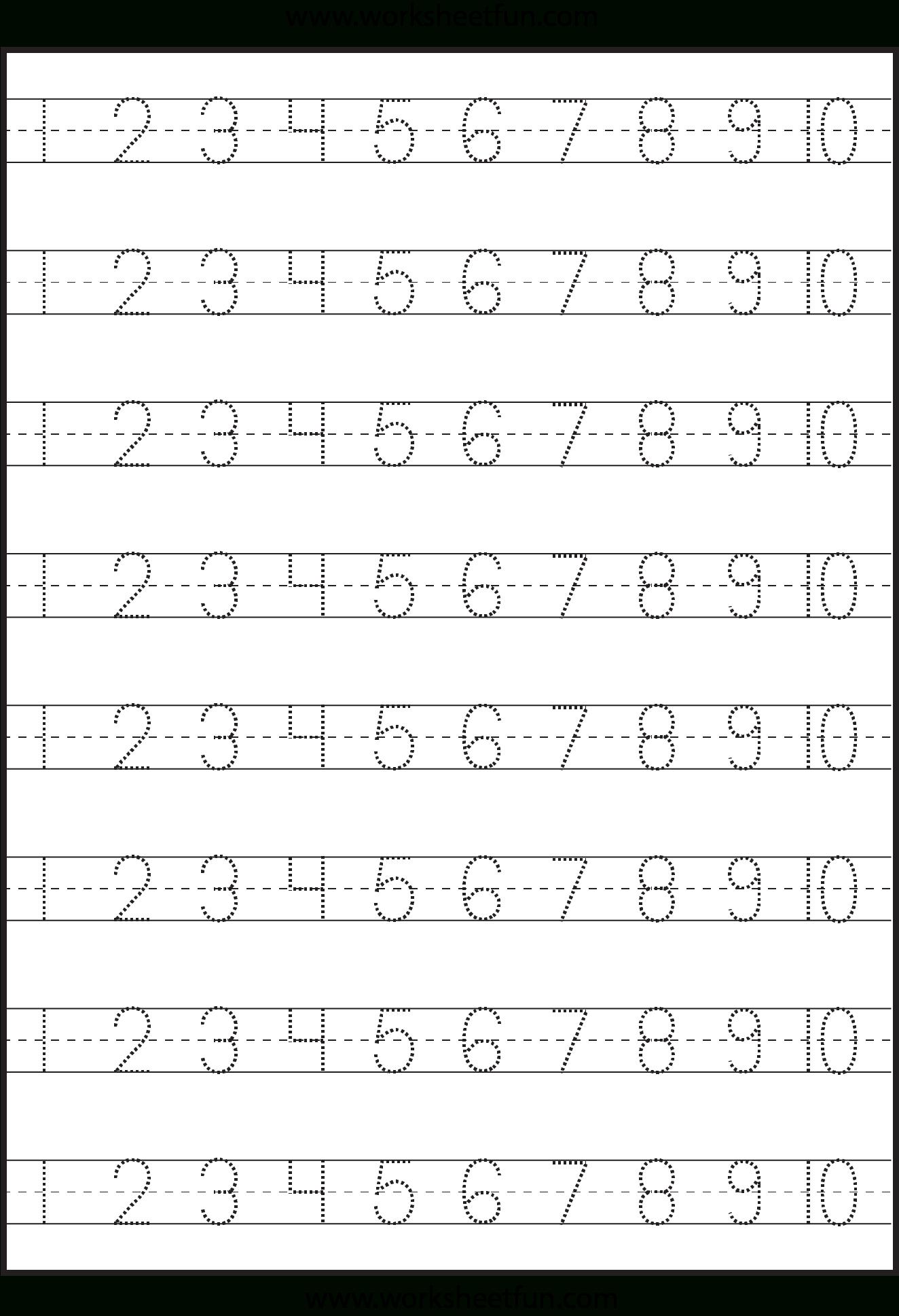 Number Tracing 1 10 Worksheet FREE Printable