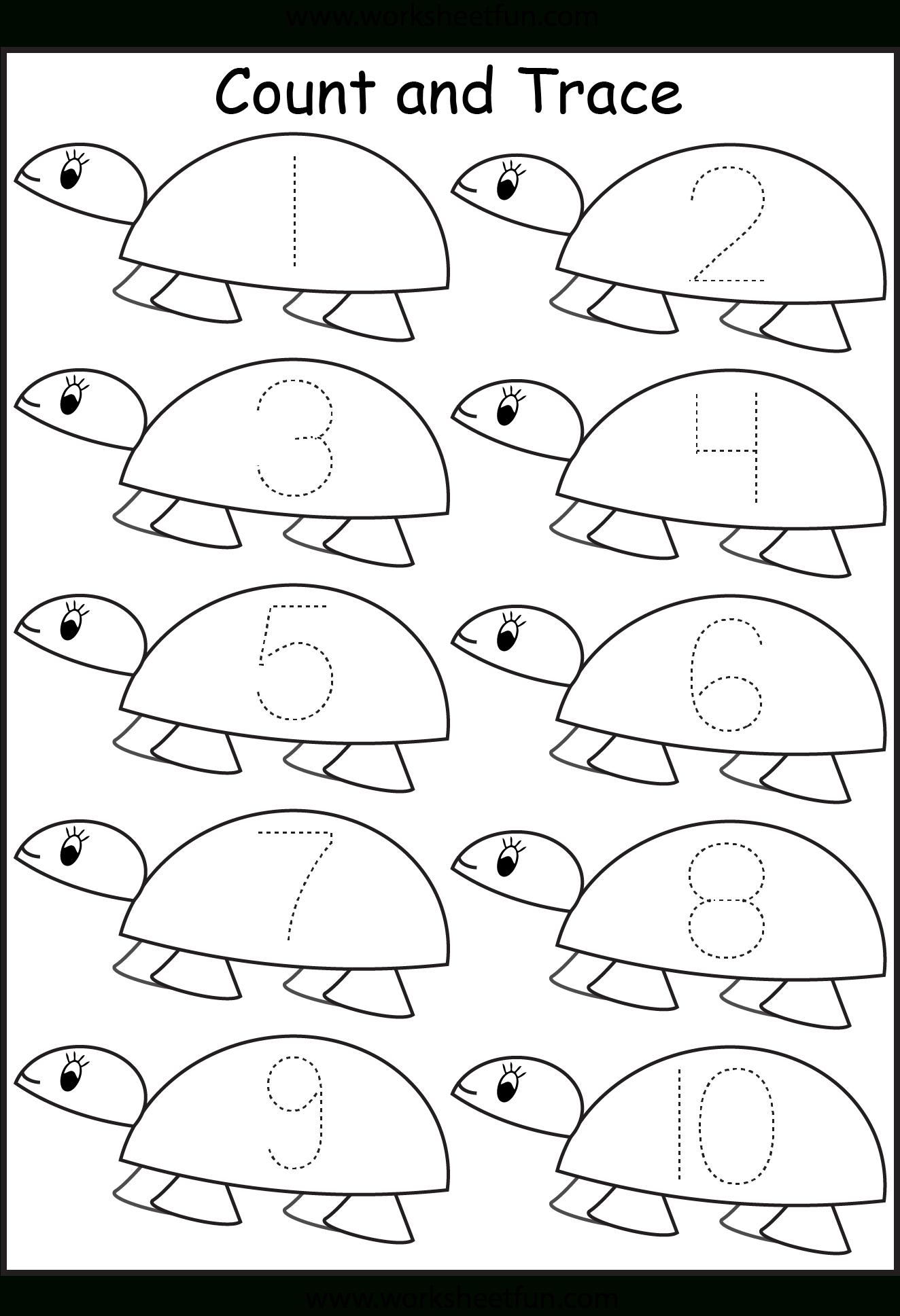 Number Tracing 1 Worksheet Preschool Number Worksheets