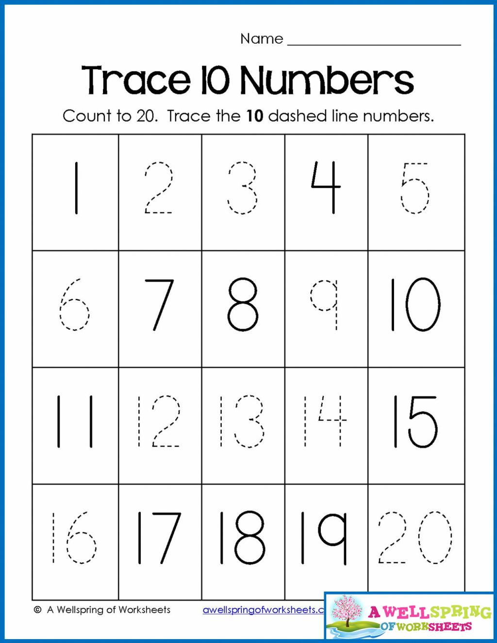 Number Tracing Worksheets 1 20 Pdf Free NumbersWorksheet