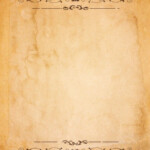 Old Paper With Patterned Vintage Frame Blank For Your