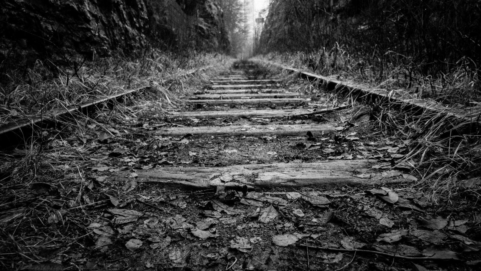 Old Rail Track Wallpaper 4K Background HD Wallpaper