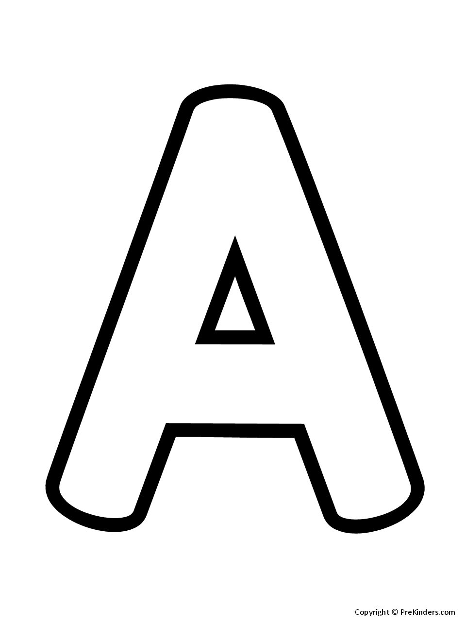 Outline Letters Uppercase PreKinders
