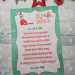 Personalised Single Elf On The Shelf Goodbye Letter
