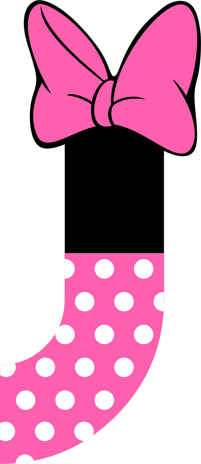 Pin By Krazee On ALPHABET FONTS Minnie Mouse Party