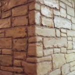 Plaster Stencil Stacked Stone Walls Stencils Plaster