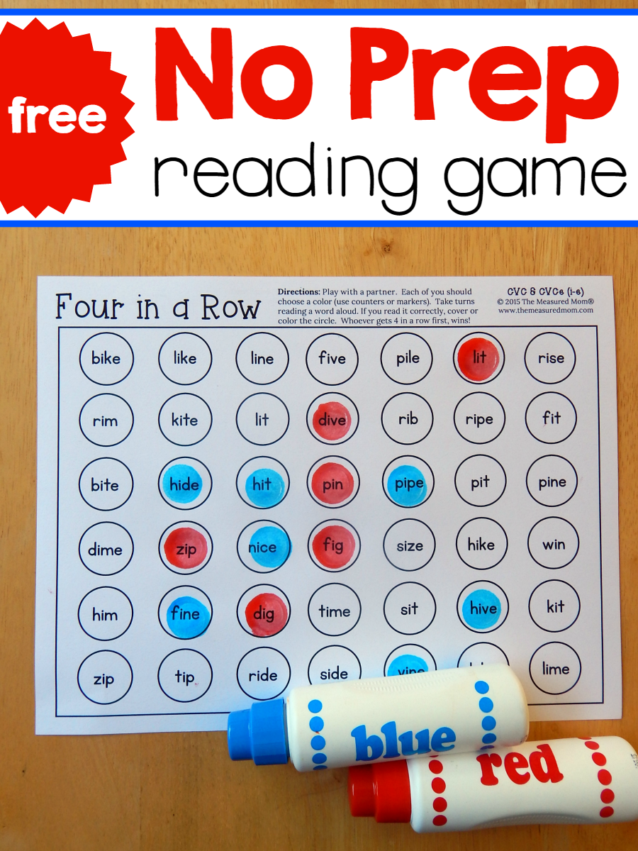 Practice Reading I e Words With These Quick Games The