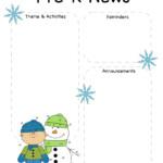 Pre K Winter Newsletter Template The Crafty Teacher