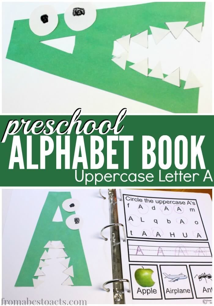 Preschool Alphabet Book Uppercase A Preschool Letters
