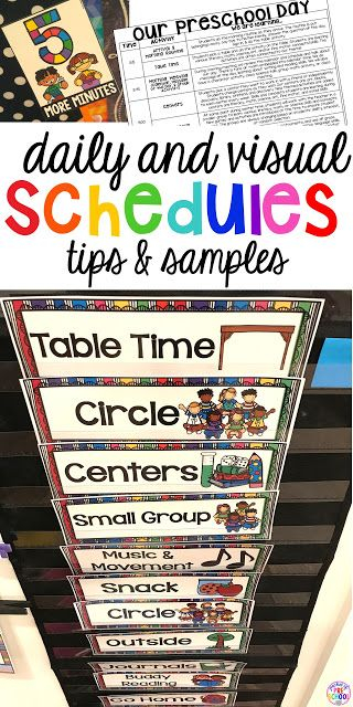 Preschool Daily Schedule And Visual Schedules Preschool