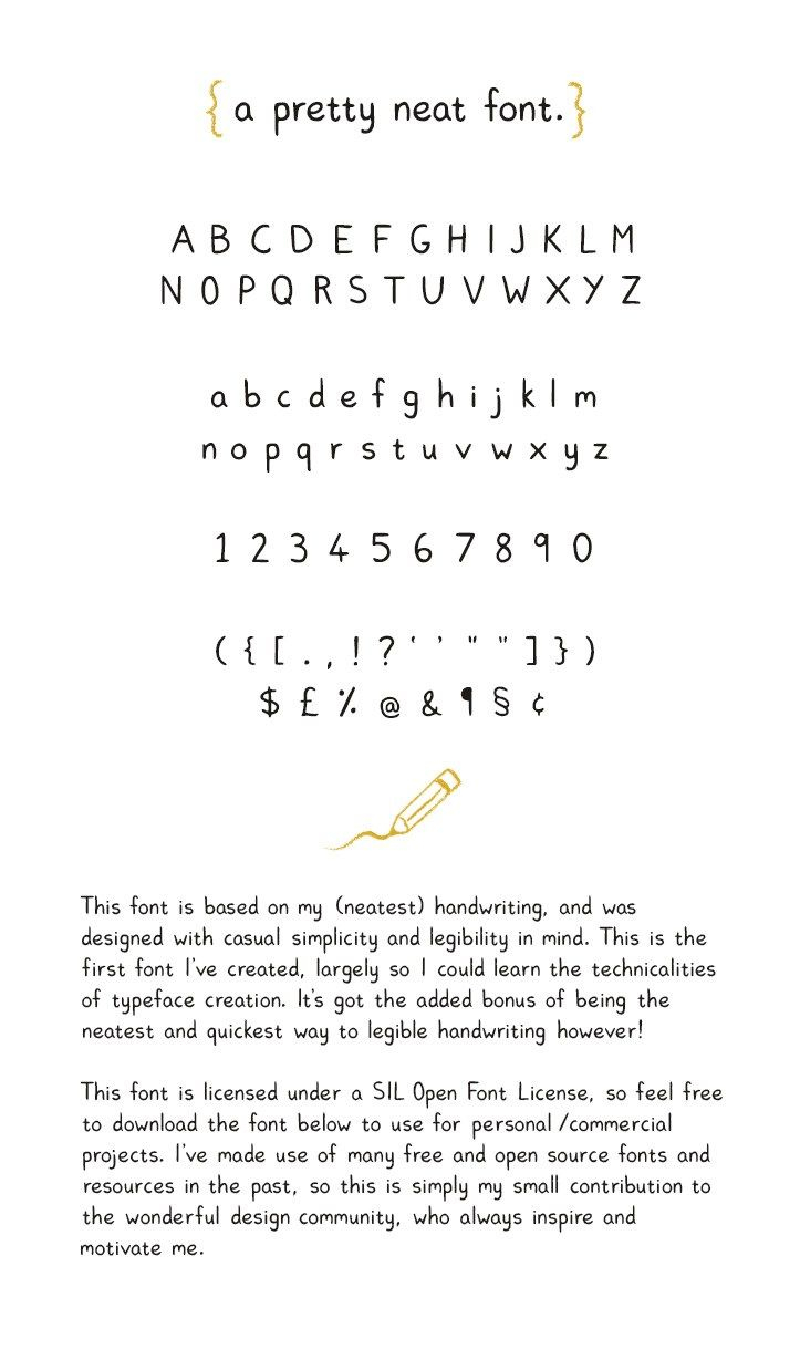Pretty Neat Free Font Fribly Fonts Handwriting