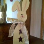 Primitive Spring Easter Bunny Shelf Sitter