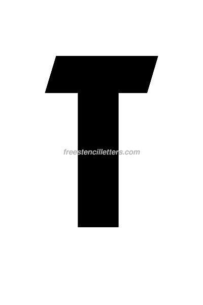 Print 7 Inch T Letter Stencil Free Stencil Letters