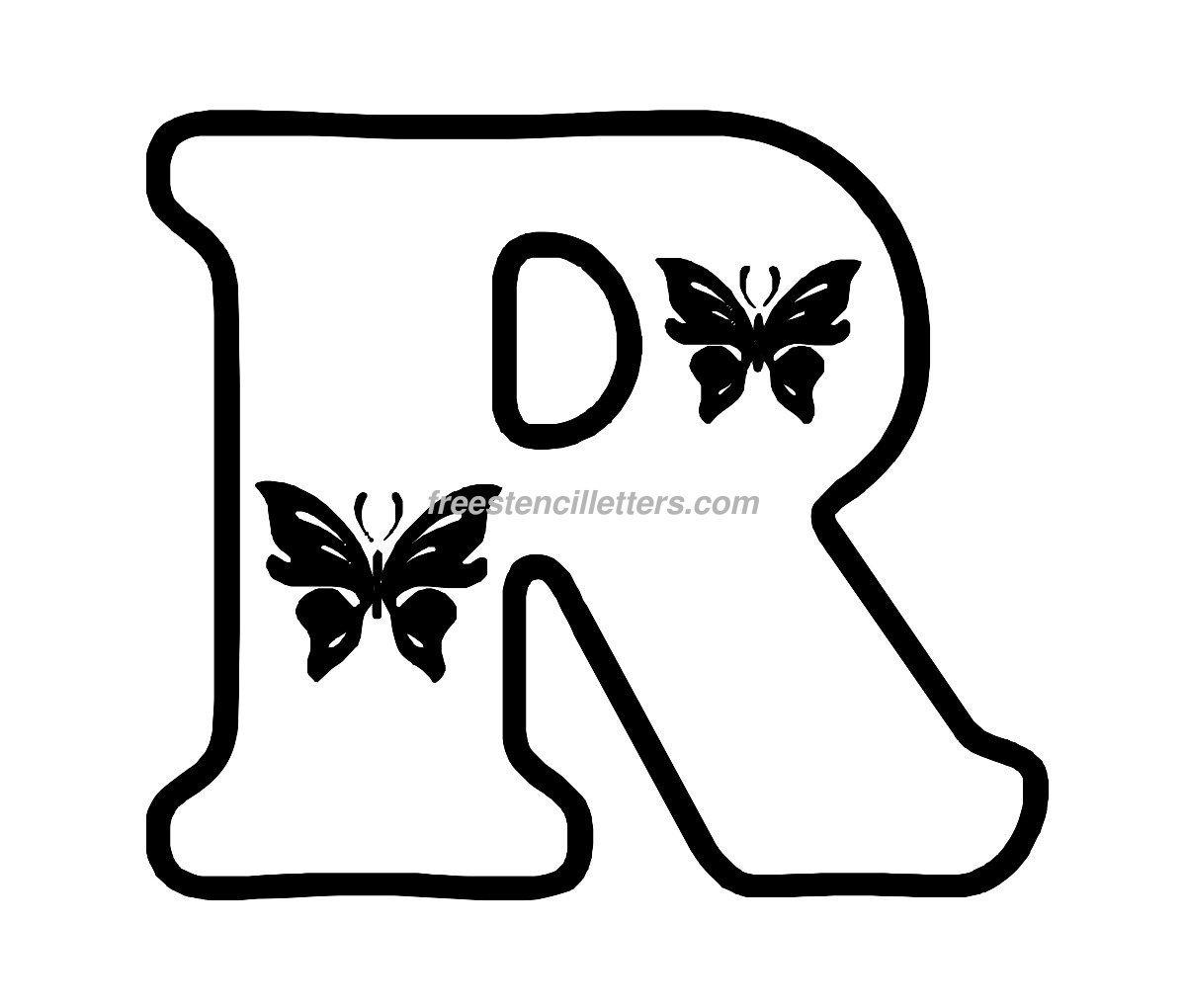 Print R Letter Stencil Free Stencil Letters