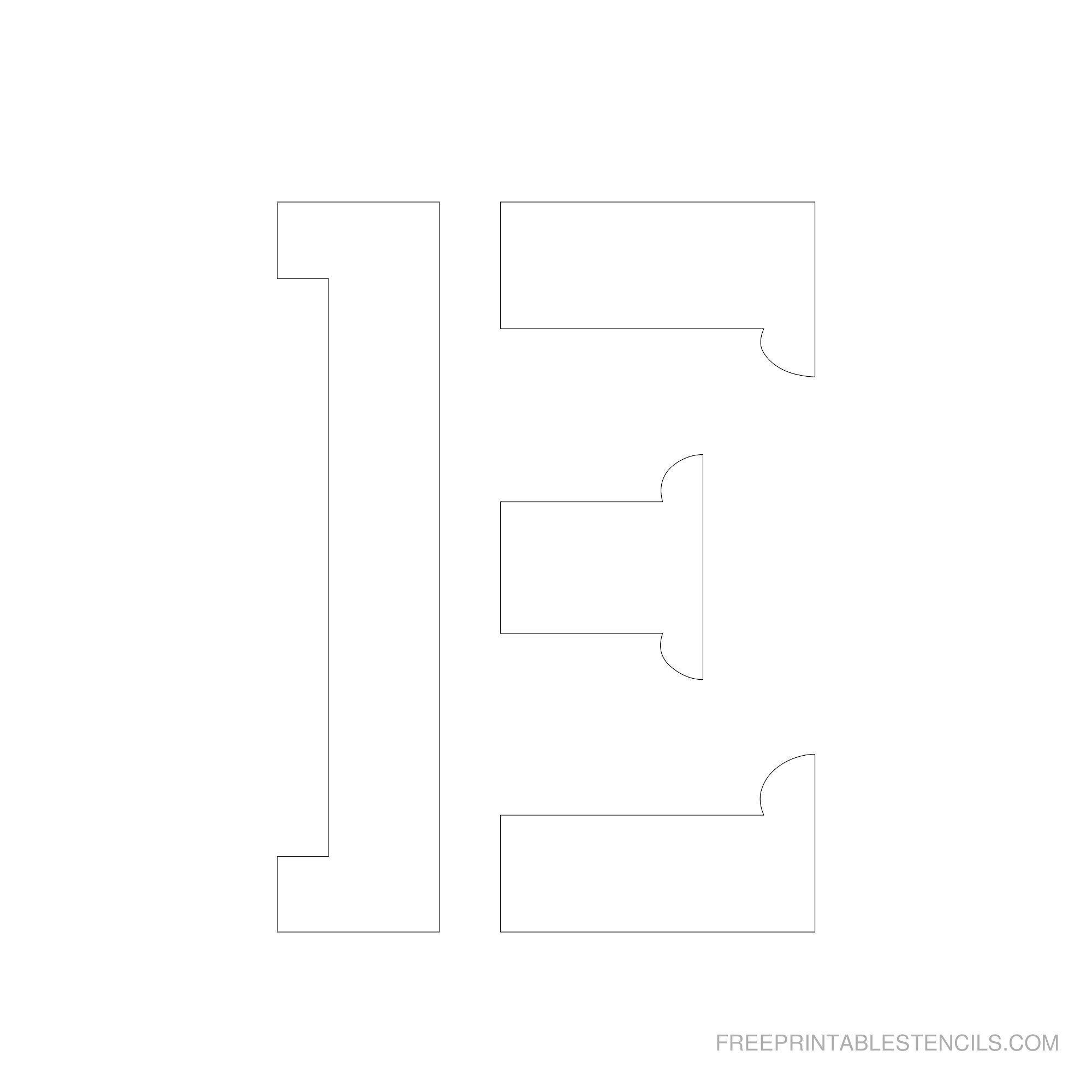 Printable 2 6 Inch Letter Stencils Free Stencils