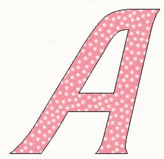 Printable Alphabet Barbie Font Template Pattern In Pdf By