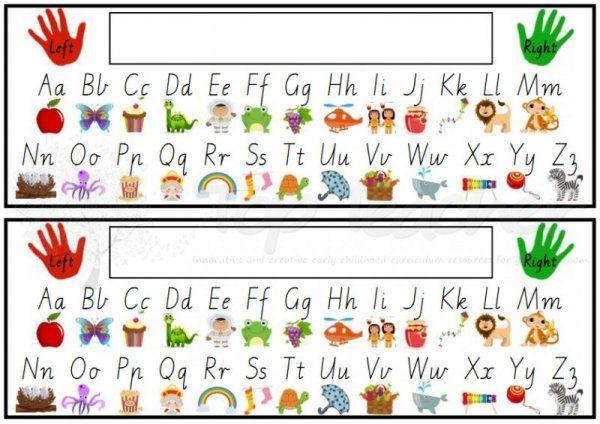Printable Alphabet Desk Strip Alphabet Pictures