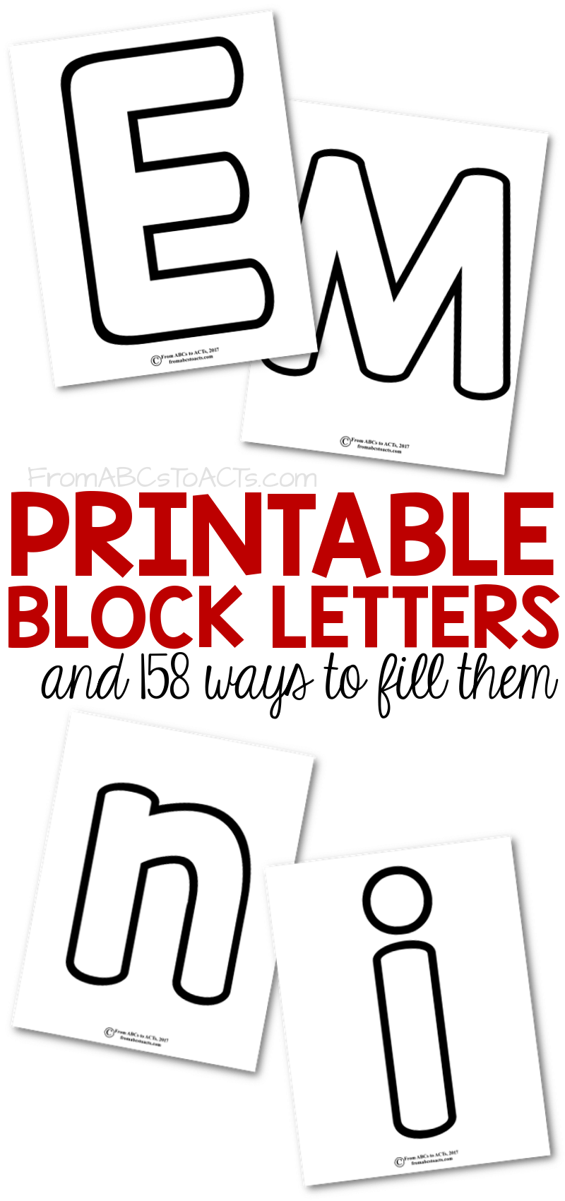 Printable Block Letters And 158 Ways To Fill Them From